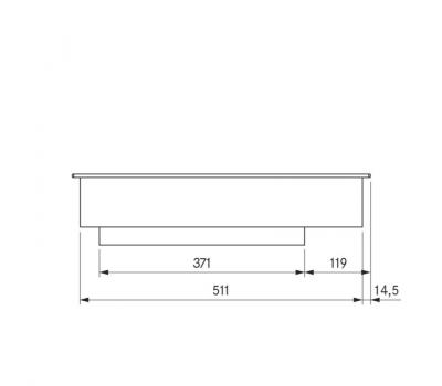 BORA Pro indukcyjny wok ceramiczny PKIW1 - rysunek techniczny 3
