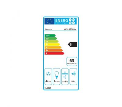 Okap przyścienny KERNAU KCH 4860 W - karta energetyczna