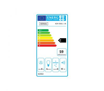 Okap przyścienny KERNAU KCH 3561.1 B - karta energetyczna