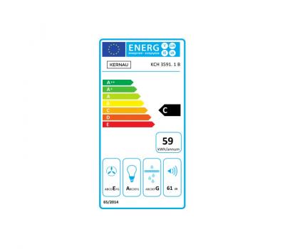 Okap przyścienny KERNAU KCH 3591.1 B - karta energetyczna