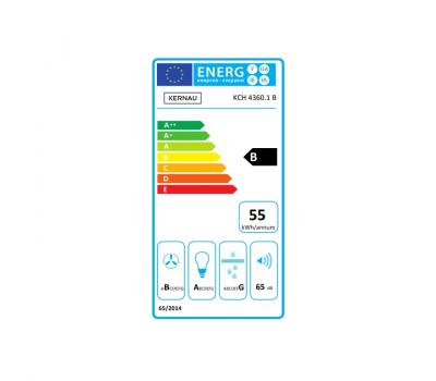 Okap przyścienny KERNAU KCH 4360.1 B - karta energetyczna