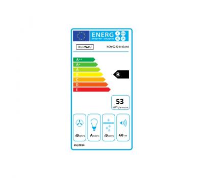 Okap wyspowy KERNAU KCH 0240 B ISLAND - karta energetyczna