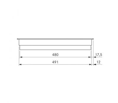 BORA Classic ceramiczna płyta grzewcza Hyper z dwoma polami grzewczymi, 1 pierścień/2 pierścienie CKCH Classic 2.0 - rysunek techniczny 2