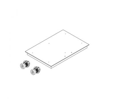 BORA Pro indukcyjna ceramiczna płyta grzewcza z dwoma polami grzewczymi o pełnej powierzchni PKFI11 - rysunek techniczny 1