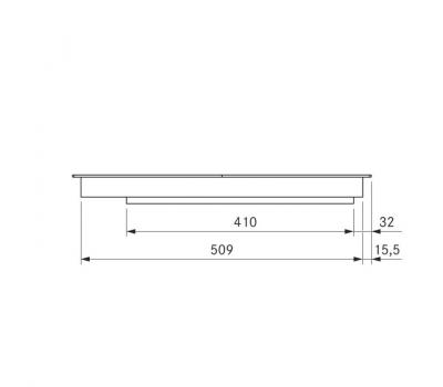 BORA Pro indukcyjna ceramiczna płyta grzewcza z dwoma polami grzewczymi o pełnej powierzchni PKFI11 - rysunek techniczny 4