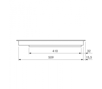 BORA Pro indukcyjna ceramiczna płyta grzewcza z dwoma polami grzewczymi PKI11 - rysunek techniczny 1