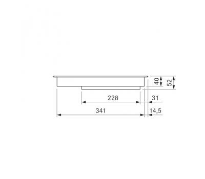 BORA Pro indukcyjna ceramiczna płyta grzewcza z dwoma polami grzewczymi PKI11 - rysunek techniczny 2