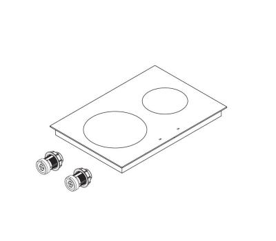 BORA Pro indukcyjna ceramiczna płyta grzewcza z dwoma polami grzewczymi PKI11 - rysunek techniczny 4