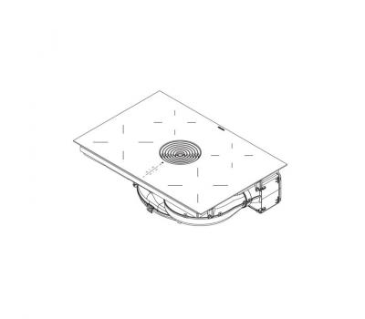 BORA Pure indukcyjna płyta grzewcza ze zintegrowanym wyciągiem oparów – Powietrze w obwodzie zamkniętym PURU - rysunek techniczny 2