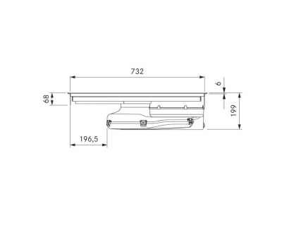 BORA Pure indukcyjna płyta grzewcza ze zintegrowanym wyciągiem oparów – Powietrze w obwodzie zamkniętym PURU - rysunek techniczny 3