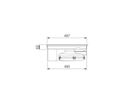 BORA Pure indukcyjna płyta grzewcza ze zintegrowanym wyciągiem oparów – Powietrze w obwodzie zamkniętym PURU - rysunek techniczny 4