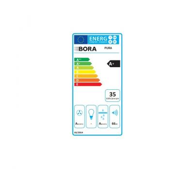 BORA Pure indukcyjna płyta grzewcza ze zintegrowanym wyciągiem oparów – Powietrze odprowadzane PURA - karta energetyczna