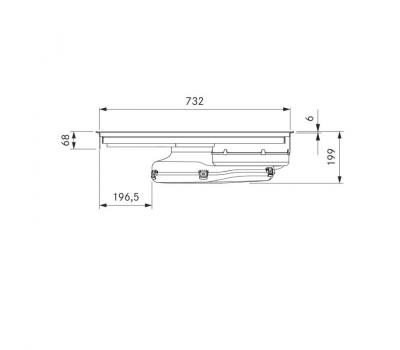 BORA Pure indukcyjna płyta grzewcza ze zintegrowanym wyciągiem oparów – Powietrze odprowadzane PURA - rysunek techniczny 2