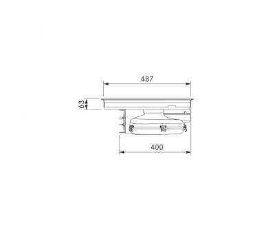 BORA Pure indukcyjna płyta grzewcza ze zintegrowanym wyciągiem oparów – Powietrze odprowadzane PURA - rysunek techniczny 3