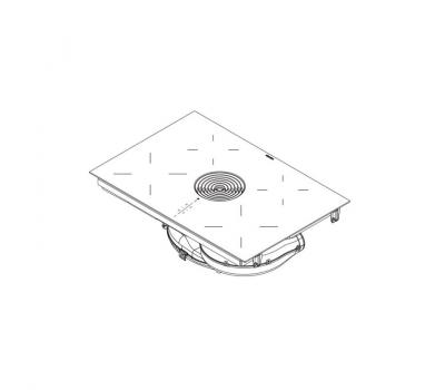 BORA Pure indukcyjna płyta grzewcza ze zintegrowanym wyciągiem oparów – Powietrze odprowadzane PURA - rysunek techniczny 4