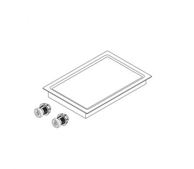 BORA Pro grill Tepan ze stali szlachetnej z dwoma polami grzewczymi PKT11 - rysunek techniczny 1