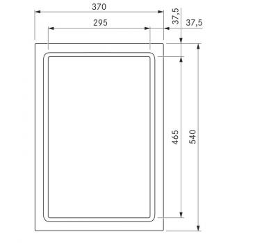 BORA Pro grill Tepan ze stali szlachetnej z dwoma polami grzewczymi PKT11 - rysunek techniczny 2