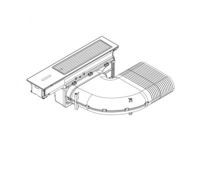 BORA Classic wyciąg oparów CKA2 Classic 2.0 - rysunek techniczny 1