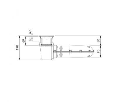 BORA Classic wyciąg oparów CKA2 Classic 2.0 - rysunek techniczny 4