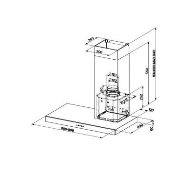 Okap przyścienny FABER STILO DX/SP 120
