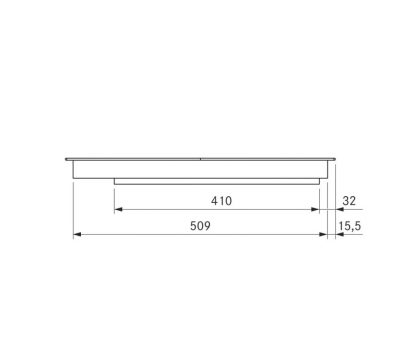 BORA Pro indukcyjna ceramiczna płyta grzewcza z dwoma polami grzewczymi o pełnej powierzchni PKFI11AB - rysunek techniczny 4