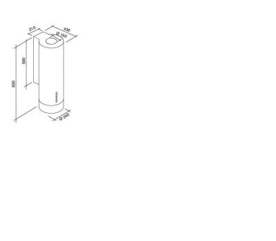 Okap przyścienny FALMEC POLAR rysunek techniczny