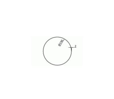 Rura okrągła DOMUS fi 15 cm/1 m kod 1100-6 rysunek techniczny