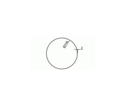 Rura okrągła DOMUS fi 15 cm/1,5 m kod 1150-6 rysunek techniczny