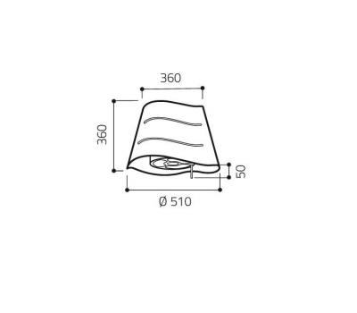 Okap wyspowy ELICA WAVE IX/F/51 rysunek techniczny